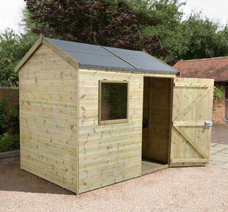 6' x 8' Shed-Plus Champion Heavy Duty Reverse Apex Shed - Single Door (2.42m x 1.82m)