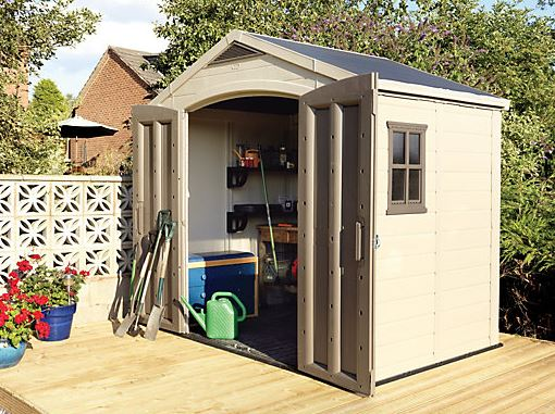 Loxley 7' x 5' Plastic Mediterranean Apex Shed