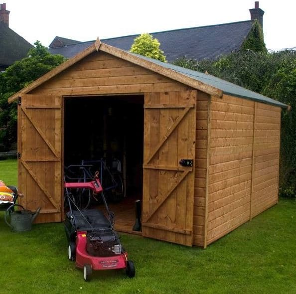 12x8 Waltons Windowless Groundsman Tongue and Groove Apex Garden Shed