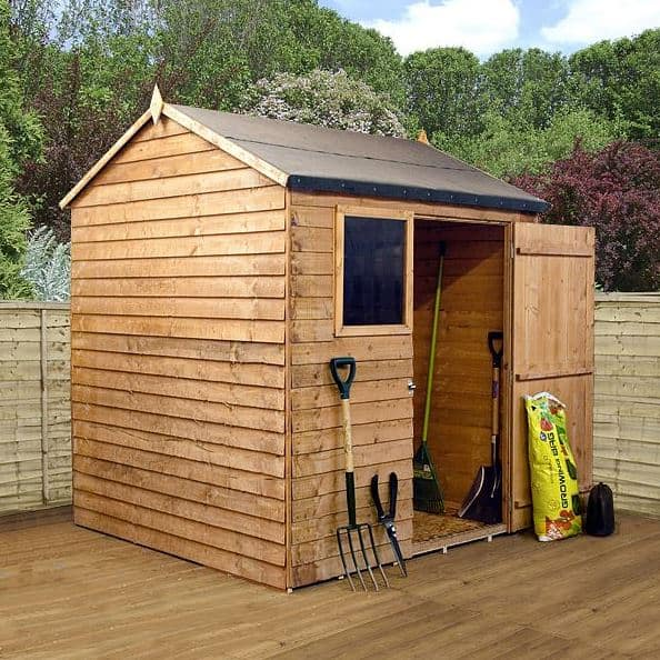 6x6 Waltons Reverse Overlap Apex Wooden Shed