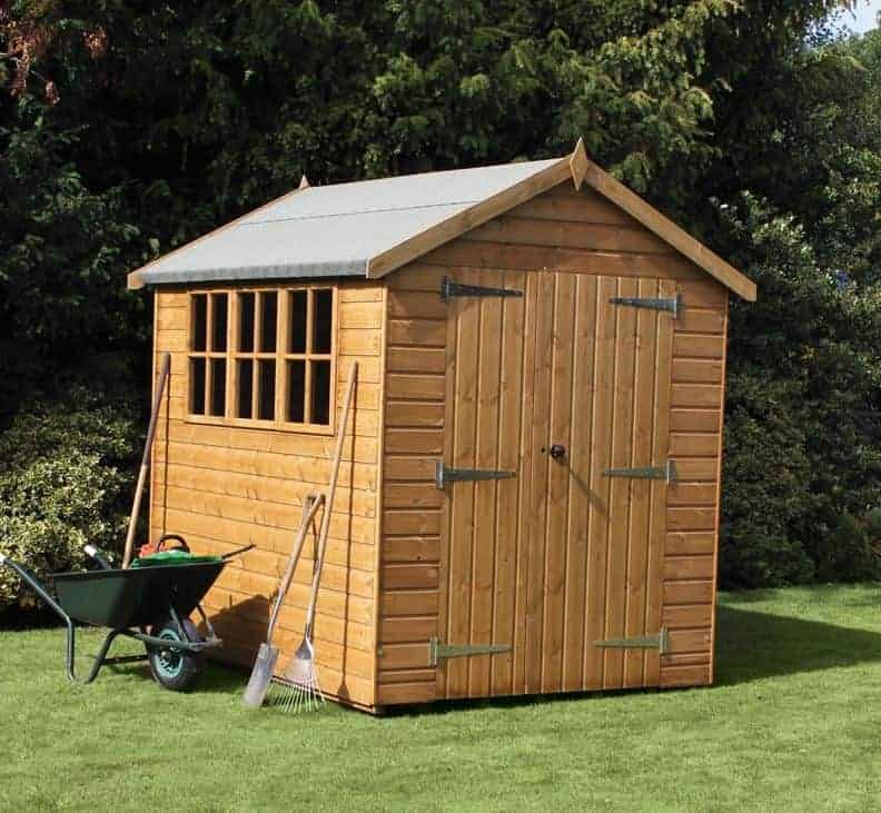 8' x 6' Traditional Heavy Duty Apex Wooden Garden Shed (2.44m x 1.83m)