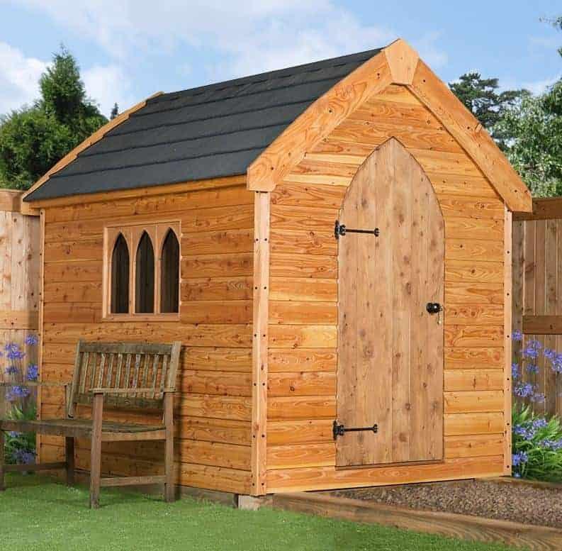 8' x 8' Windsor Groundsman Dutch Barn Wooden Shed (2.57m x 2.44m)