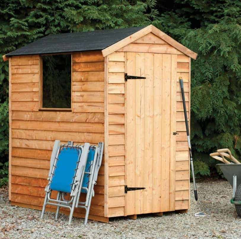6' x 4' Forest Overlap Apex Dip Treated Wooden Shed (1.82m x 1.32m)