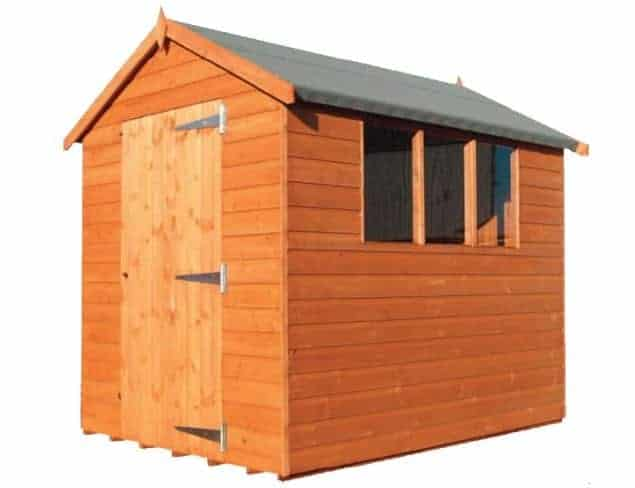 6' x 4' Traditional Tongue and Groove Apex Wooden Shed (1.83m x 1.22m)