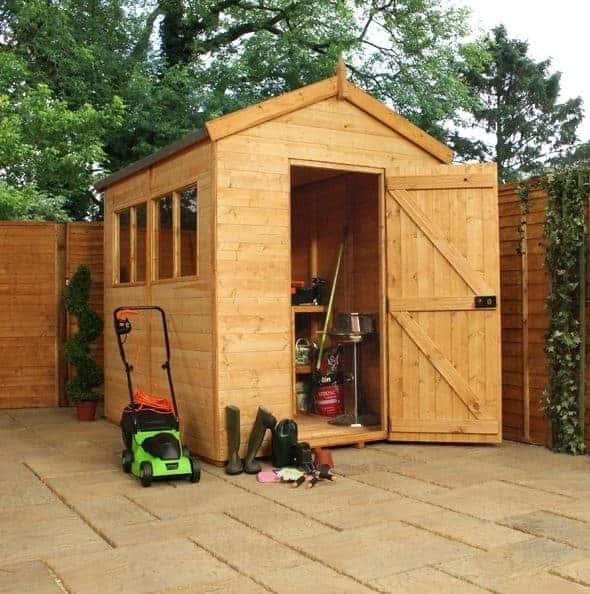 Waltons 10 x 8 Overlap Double Door Apex Wooden Shed