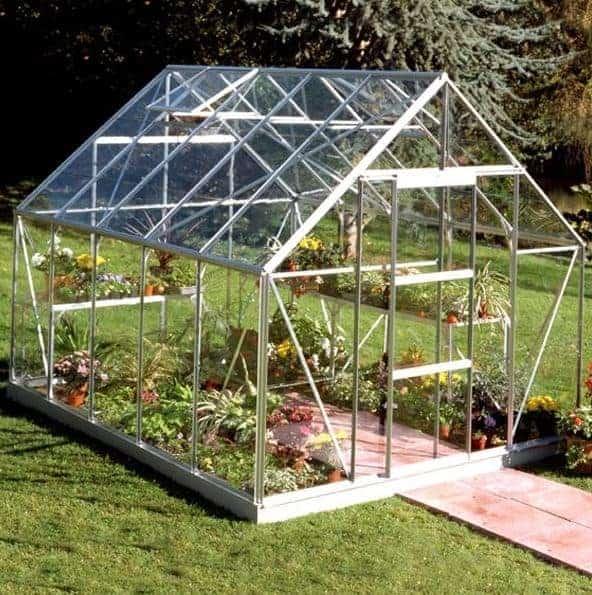 Garden Grow 6.2 x 8.3ft Greenhouse - Silver