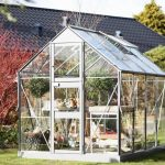 Glass Greenhouse - 6'4 x 8'3 Eden Acorn Glass Greenhouse