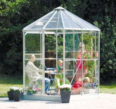 8'x7' (2.4x2.1m) Palram Oasis Hexagonal Polycarbonate Greenhouse