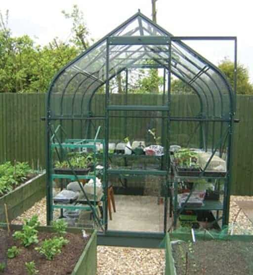 Waltons 8 x 4 Evesham Lean-to Pent Wooden Greenhouse