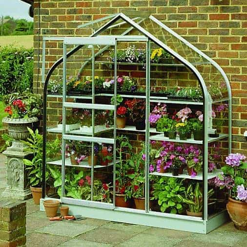 Halls 6Ft X 2Ft Supreme Curved Lean To Wall Garden