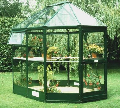 8'x7' (2.4x2.1m) Palram Oasis Hexagonal Polycarbonate Greenhouse