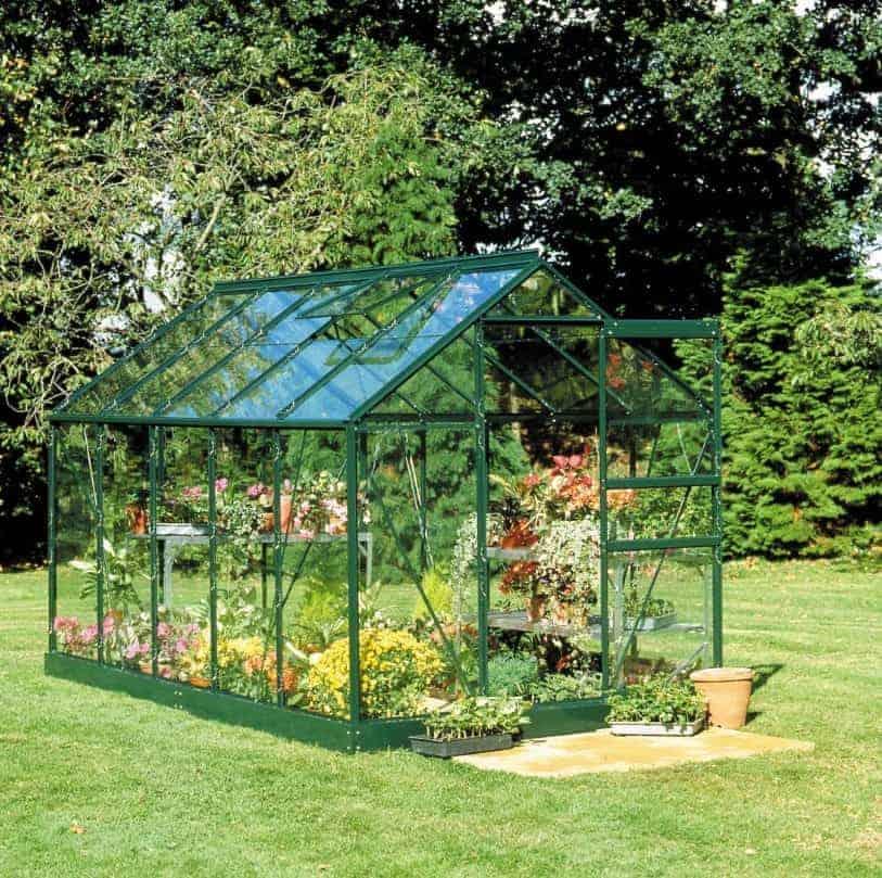 6'4 x 6'5 Green Frame Halls Popular 66 Small Greenhouse (1.93 x 1.95m)