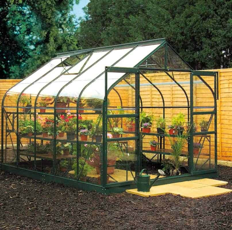 8'6 x 10'7 Green Frame Halls Magnum 810 Greenhouse (2.57 x 3.22m)