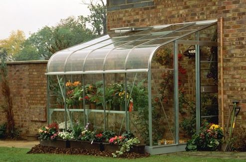 6'x8' Palram Rion White Lean to Greenhouse (1.8x2.4m)