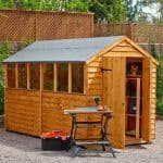 Hartwood 10' x 6' FSC Double Door Overlap Apex Shed