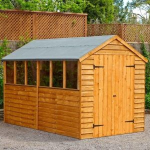 Hartwood 10' x 6' FSC Double Door Overlap Apex Shed Closed Door