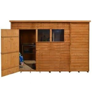 Hartwood 10' x 6' FSC Overlap Pent Shed Front View