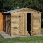 Hartwood 10' x 8' FSC Pressure Treated Overlap Apex Security Workshop