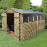 Hartwood 12' x 8' FSC Pressure Treated Overlap Apex Workshop