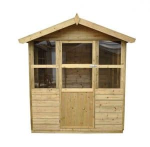 Hartwood 6' x 6' FSC Pressure Treated Charlton Summerhouse Front View