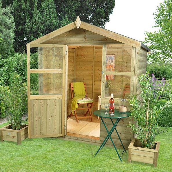 Hartwood 6' x 6' FSC Pressure Treated Charlton Summerhouse