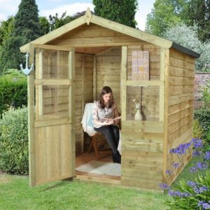 Hartwood 6' x 6' FSC Pressure Treated Sutton Overlap Apex Summerhouse