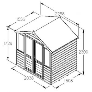 Hartwood 7' x 5' FSC Ilmington Summerhouse Dimensions