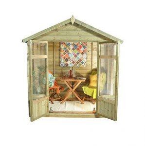 Hartwood 7' x 5' FSC Pressure Treated Bloxidge Summerhouse Front View