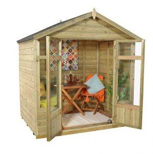 Hartwood 7' x 5' FSC Pressure Treated Bloxidge Summerhouse Side View