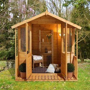 Hartwood 7' x 7' FSC Bidford Summerhouse Front