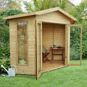 Hartwood 7' x 7' FSC Pressure Treated Oxhill Corner Summer House