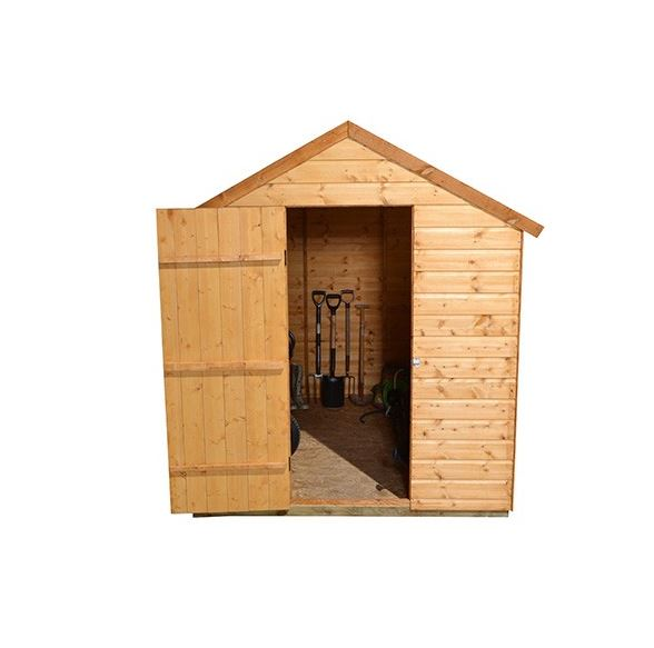 Hartwood 8 39 x 6 39 fsc apex shed what shed for Open front shed