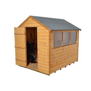 Hartwood 8' x 6' FSC Apex Shed Left Side View