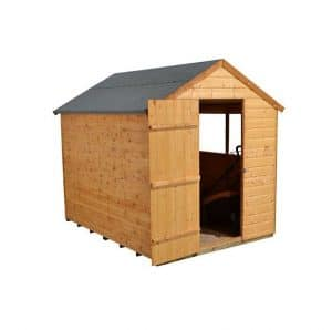 Hartwood 8' x 6' FSC Apex Shed Right Side View