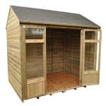 Hartwood 8' x 6' FSC Pressure Treated Fairford Summerhouse Empty Inside