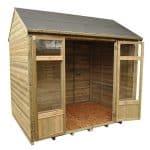 Hartwood 8' x 6' FSC Pressure Treated Fairford Summerhouse Empty Inside