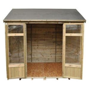 Hartwood 8' x 6' FSC Pressure Treated Fairford Summerhouse Front