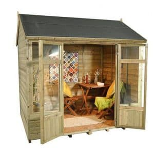 Hartwood 8' x 6' FSC Pressure Treated Fairford Summerhouse Side