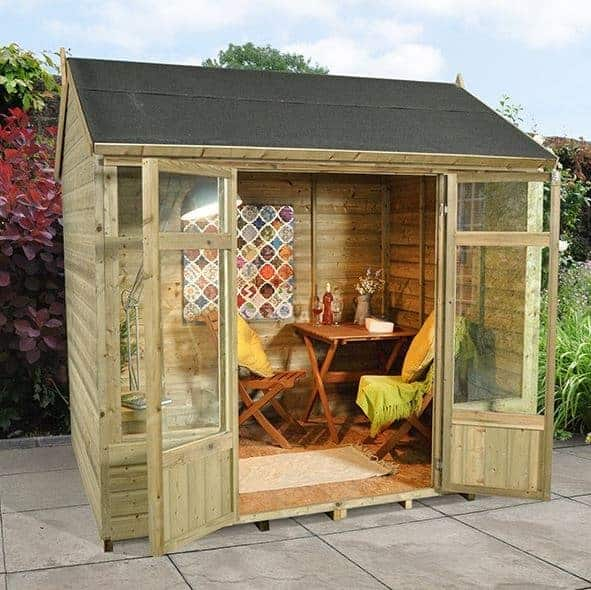 Hartwood 8' x 6' FSC Pressure Treated Fairford Summerhouse