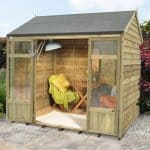 Hartwood 8' x 6' FSC Pressure Treated Pebworth Summerhouse