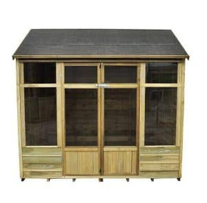 Hartwood 8' x 6' FSC Pressure Treated Pebworth Summerhouse Front