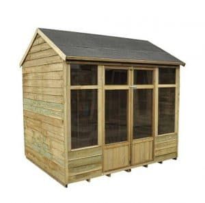 Hartwood 8' x 6' FSC Pressure Treated Pebworth Summerhouse Side