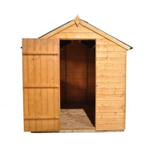 Hartwood 8' x 6' FSC Shiplap Shed Front View Open Door
