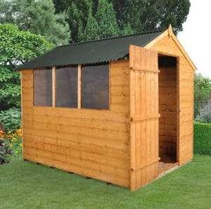 Hartwood 8' x 6' FSC Shiplap Shed Side View