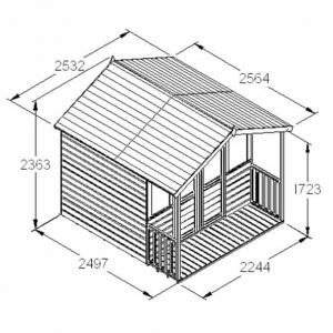 Hartwood 8' x 8' FSC Chadbury Summerhouse Dimensions