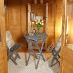 Hartwood 8' x 8' FSC Chadbury Summerhouse Inside View