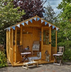 Hartwood 8' x 8' FSC Chadbury Summerhouse Side View