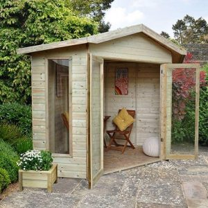 Hartwood 8' x 8' FSC Pressure Treated Bancroft Corner Summer House