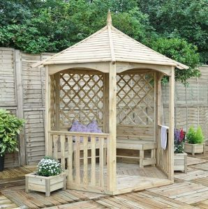 Hartwood 9' x 8' FSC Hathaway Gazebo Side View