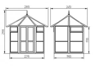 Hartwood 9' x 8' FSC Malvern Glass House Dimensions